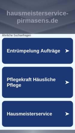 Vorschau der mobilen Webseite www.hausmeisterservice-pirmasens.de, KS Hausmeisterservice