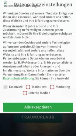 Vorschau der mobilen Webseite www.urlaubsengel.de, Reiseagentur Urlaubsengel