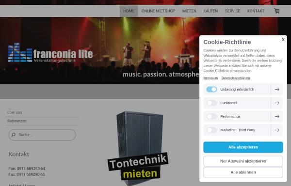 Vorschau von www.franconia-lite.de, franconia lite Veranstaltungstechnik