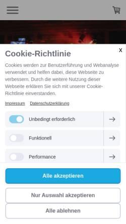 Vorschau der mobilen Webseite www.franconia-lite.de, franconia lite Veranstaltungstechnik