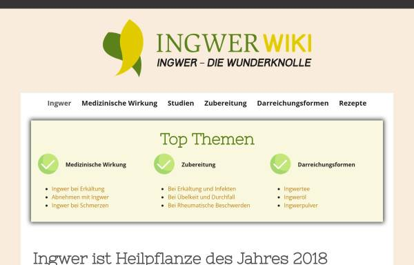 Vorschau von www.ingwer-wiki.de, Ingwer-Wiki