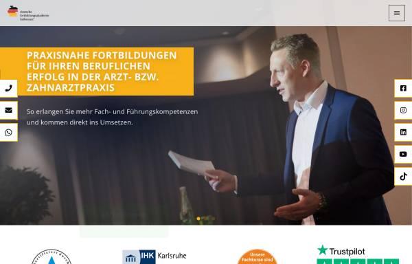 Vorschau von www.dfa-heilwesen.de, Deutsche Fortbildungsakademie Heilwesen® GmbH & Co. KG