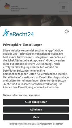 Vorschau der mobilen Webseite www.dfa-heilwesen.de, Deutsche Fortbildungsakademie Heilwesen® GmbH & Co. KG