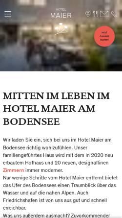 Vorschau der mobilen Webseite www.hotel-maier.de, Hotel Restaurant Maier