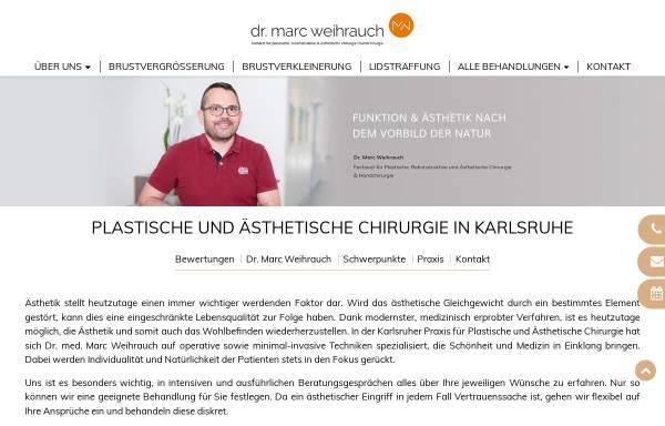 Vorschau von www.dr-weihrauch.de, Praxis Dr. Marc Weihrauch