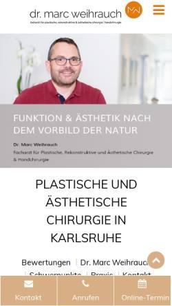 Vorschau der mobilen Webseite www.dr-weihrauch.de, Praxis Dr. Marc Weihrauch