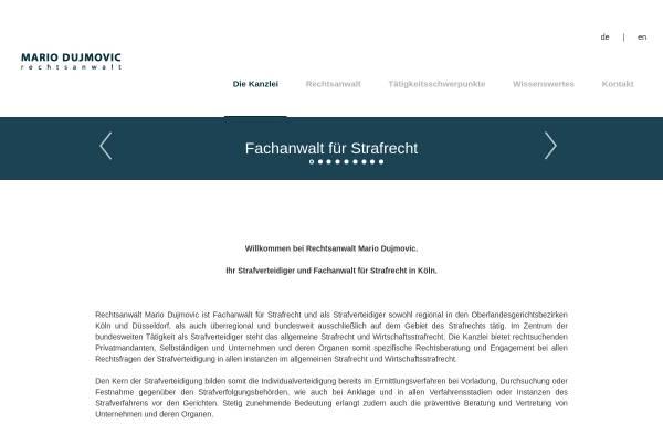 Vorschau von www.mariodujmovic.de, Kanzlei Mario Dujmovic