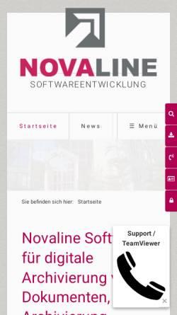 Vorschau der mobilen Webseite www.novaline.de, Novaline Informationstechnologie Gmbh