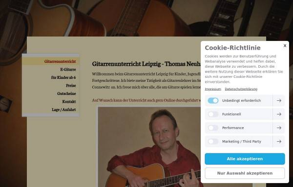 Vorschau von www.gitarrenunterricht-in-leipzig.de, Gitarrenlehrer Thomas Neuhäuser
