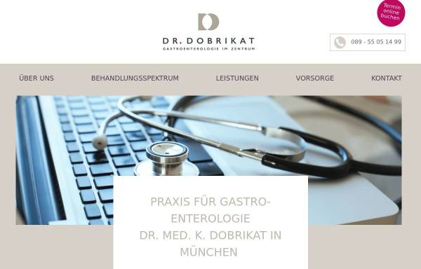 Vorschau von www.gastroenterologie-dobrikat.de, Dr. Kerstin Dobrikat - Gastroenterologie im Zentrum