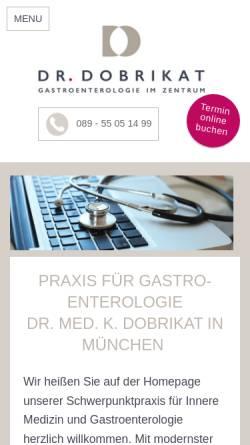 Vorschau der mobilen Webseite www.gastroenterologie-dobrikat.de, Dr. Kerstin Dobrikat - Gastroenterologie im Zentrum