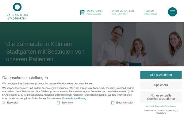 Vorschau von www.zahnaerzte-am-stadtgarten.de, Zahnärzte am Stadtgarten