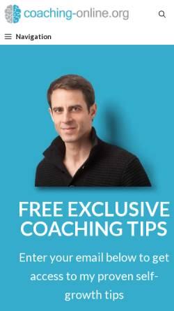 Vorschau der mobilen Webseite www.coaching-online.org, Bijan Kholghi, Online Coaching