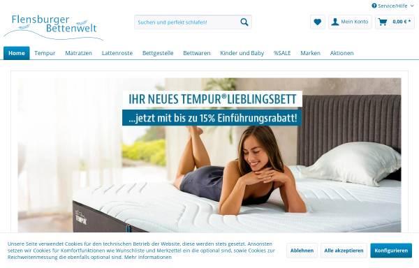 Vorschau von www.flensburger-bettenwelt.de, Flensburger Bettenwelt