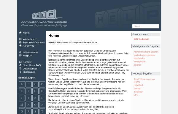 Vorschau von www.computer-woerterbuch.de, Computer-Woerterbuch.de