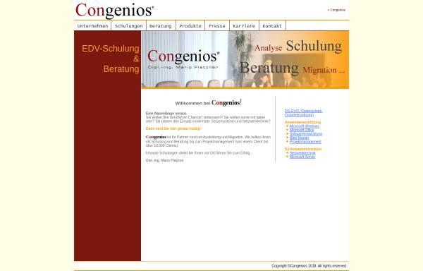 Vorschau von www.congenios.at, Congenios - Dipl.Ing. M. Platzner