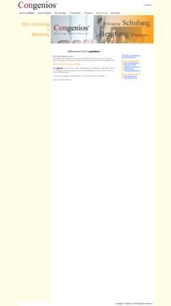 Vorschau der mobilen Webseite www.congenios.at, Congenios - Dipl.Ing. M. Platzner