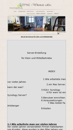 Vorschau der mobilen Webseite apple-training.at, Apple-Training Wien