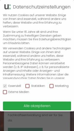 Vorschau der mobilen Webseite www.uranschek.at, Uranschek GmbH