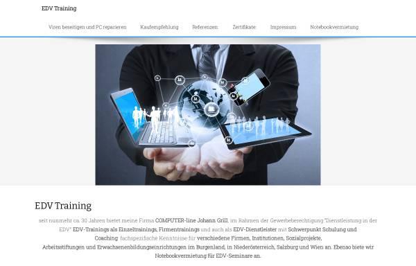 Vorschau von www.edvtraining.at, COMPUTER-line Johann Grill