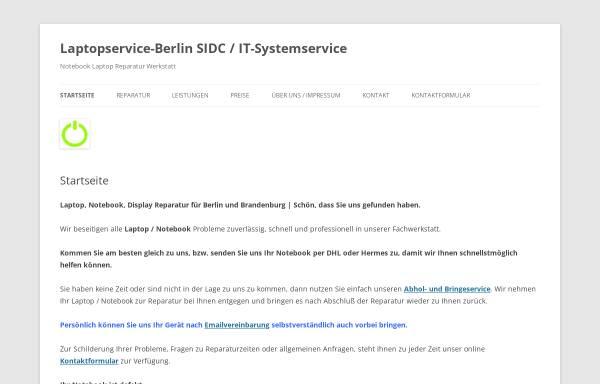 Vorschau von www.laptopservice-berlin.de, SIDC / IT-Systemservice