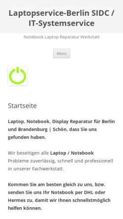 Vorschau der mobilen Webseite www.laptopservice-berlin.de, SIDC / IT-Systemservice