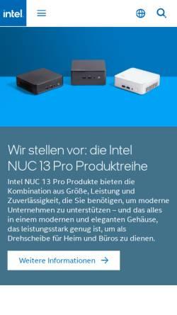 Vorschau der mobilen Webseite www.intel.de, Intel Deutschland