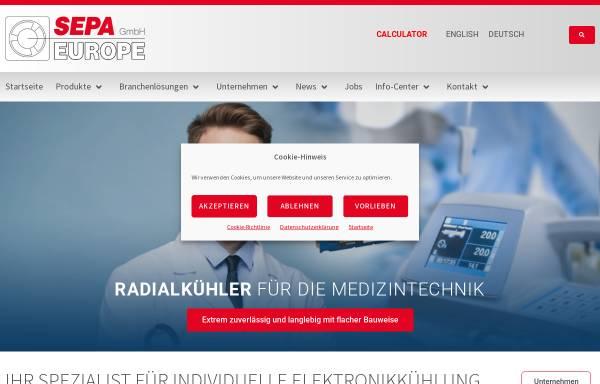 Vorschau von www.sepa-europe.com, Sepa Europe GmbH