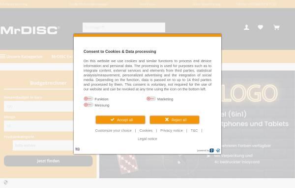 Vorschau von www.mrdisc.com, MrDisc Deutschland