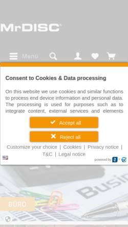 Vorschau der mobilen Webseite www.mrdisc.com, MrDisc Deutschland