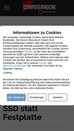 Vorschau der mobilen Webseite www.tecchannel.de, Flash SSD statt Festplatte