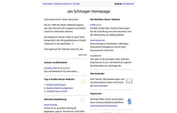 Vorschau von www.schmager.de, Schmager.de