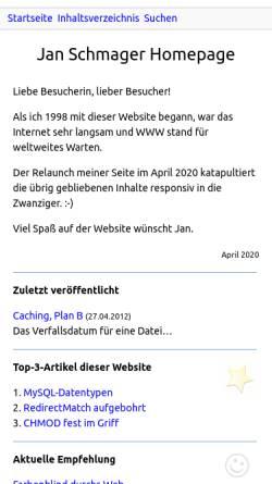Vorschau der mobilen Webseite www.schmager.de, Schmager.de