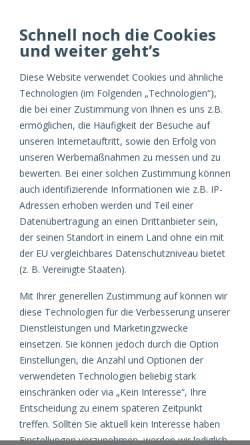 Vorschau der mobilen Webseite dreifive.com, dreifive AG