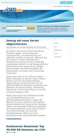 Vorschau der mobilen Webseite www.seokicks.de, SEOkicks