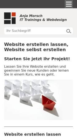 Vorschau der mobilen Webseite www.anjamorsch.de, Anja Morsch
