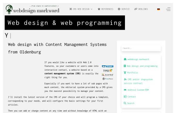 Vorschau von www.webdesign-markward.de, Webdesign Markward