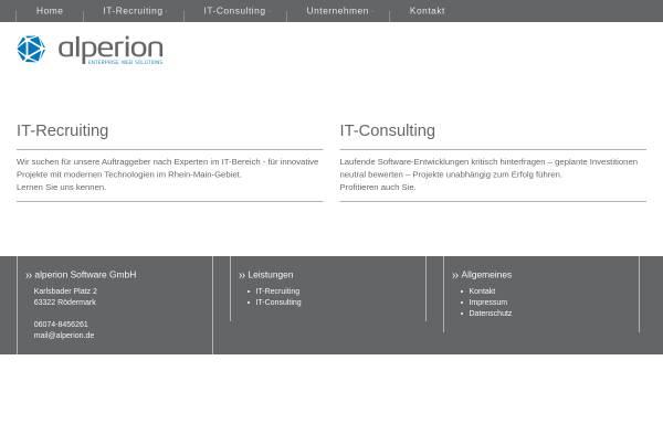 Vorschau von www.alperion.de, Alperion Software GmbH