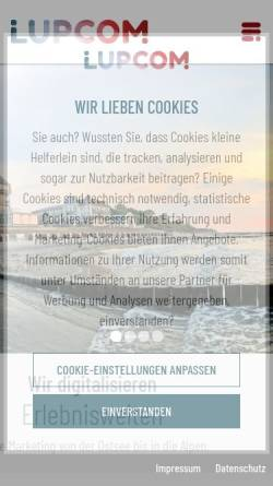 Vorschau der mobilen Webseite www.lupcom.de, Lupcom