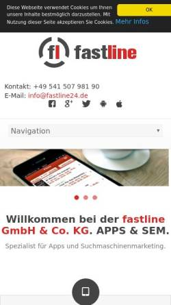 Vorschau der mobilen Webseite www.fastline24.de, Fastline GmbH & Co. KG