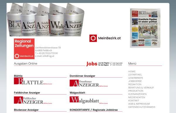 Vorschau von www.rzg.at, RZ Regionalzeitungs GmbH