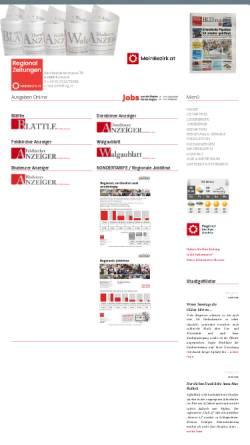 Vorschau der mobilen Webseite www.rzg.at, RZ Regionalzeitungs GmbH