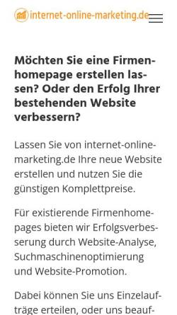 Vorschau der mobilen Webseite internet-online-marketing.de, Internet-Online-Marketing.de