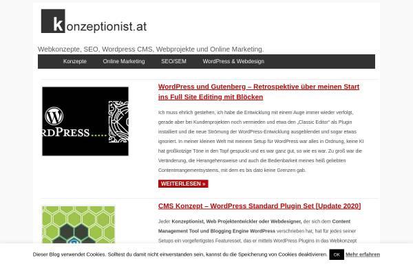 Vorschau von www.konzeptionist.at, Die Konzeptionisten