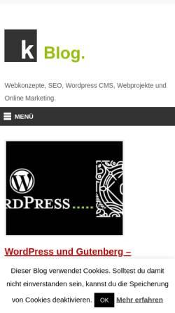 Vorschau der mobilen Webseite www.konzeptionist.at, Die Konzeptionisten