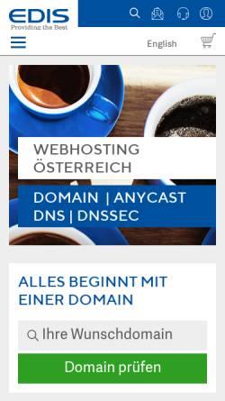Vorschau der mobilen Webseite www.edis.at, Edis GmbH