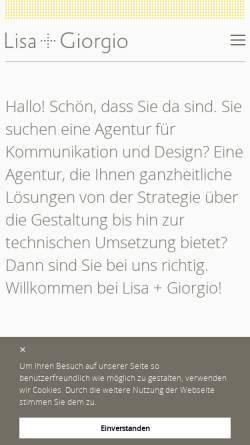 Vorschau der mobilen Webseite www.lisaundgiorgio.at, Lisa + Giorgio OG