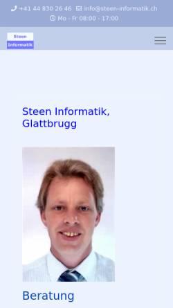 Vorschau der mobilen Webseite www.steen-informatik.ch, Steen Informatik