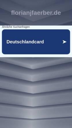 Vorschau der mobilen Webseite www.florianjfaerber.de, Florian J. Färber
