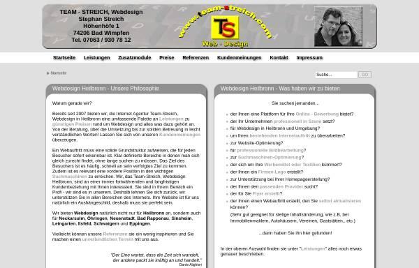 Vorschau von www.team-streich.com, Team Streich, Claudia Streich-Schaust